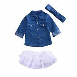 Ecovera Garments Kids Skirt Top Set