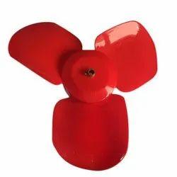 Red 3 Leaf Mini Fan Blade,  Size: 10 Inch
