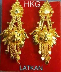 Jhumki Golden Latkan, Size: Medium