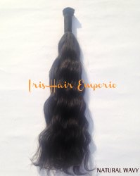 Bulk Remy Natural Wavy Hair Extension