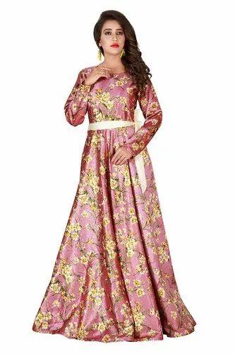 1ec218da7ef Ethnic Stitched Ladies Party Wear Gown