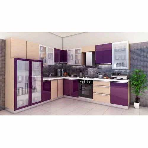 High Gloss Modular Kitchen At Rs 950 Square Feet Modern Kitchen