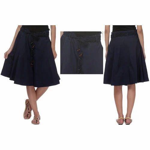 d11af61e13 Ladies Cotton Black Plain Skirt, Rs 900 /piece, A.V. International ...