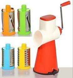 4 in 1 Drum Grater Shredder Slicer Rotary Cutter  with 4 Different Drums - 4 in 1 Shredder Slicer