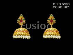 Traditional Hanging Pearl Earrings
