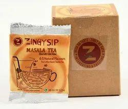 Zingysip Natural Masala Tea ( For Water ) - 10 Sachets - Serve Hot Or Cold
