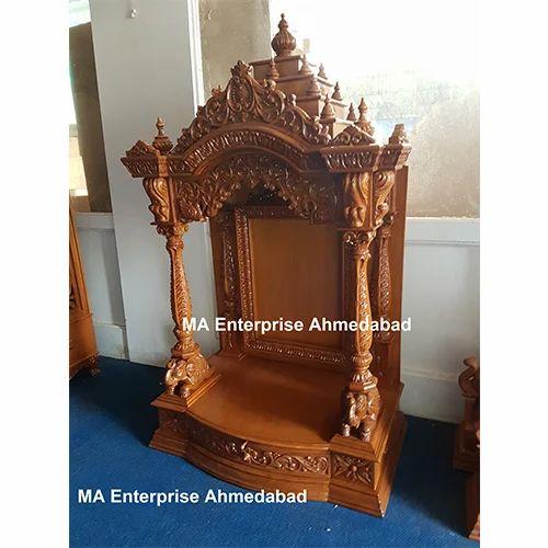 Wooden Pooja Mandir For Home At Rs 75000 Onwards Sagvan Ka Mandir