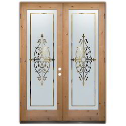 Front Entry Doors Frosted Glass
