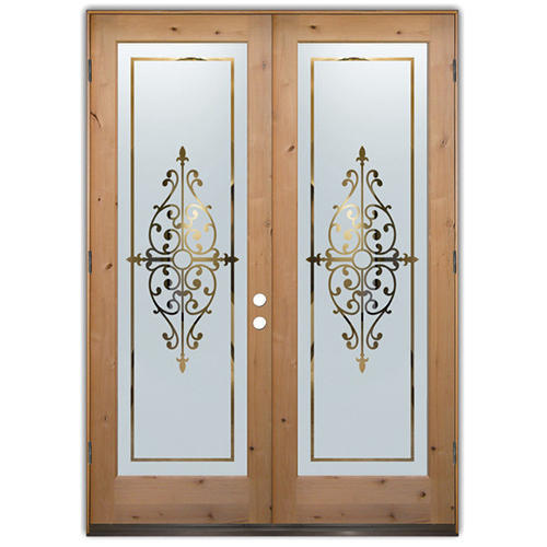 Natural Front Entry Doors Frosted Glass Rs 287 Square Feet Dom