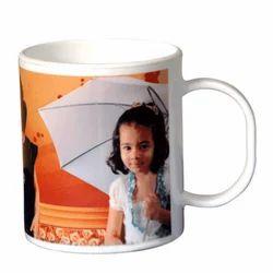 Ceramic White Polymer Mug, For Home