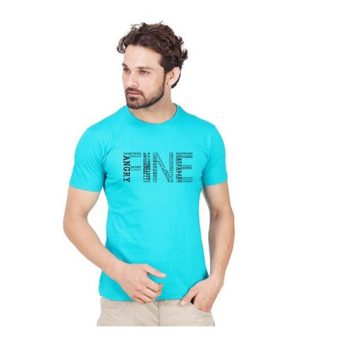 56af9eae34 Men's Cotton Half Sleeves Round Neck Printed T Shirts, Size: S To L ...