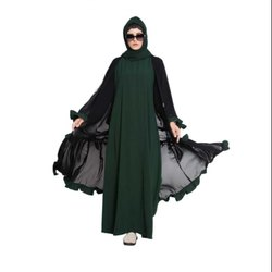 Ladies Embroidered Flared Designer Islamic Abaya