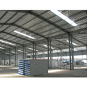 Steel Prefab Warehouse Structural Shed, Wind Loading: 80-100 Km Per Hour
