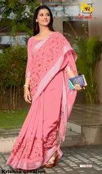 SR Launching Catwalk Vol 3 Weaving Linen Work Saree