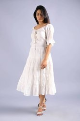 White Hippie Urban Evening & Day Summer Dress