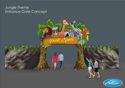 Multicolor Jungle Theme Entrance Gate