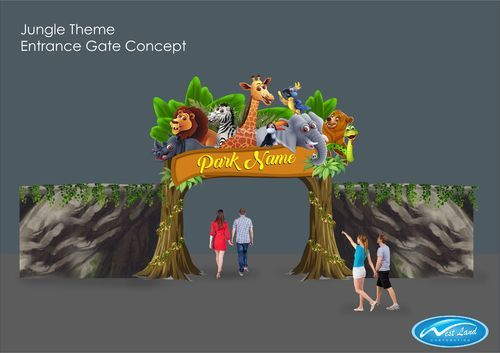 Theme Jungle west land jungle theme entrance gate, rs 400000 /unit, west land