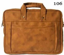 Wooden Leather Bag For Official And Multi Purpose Use