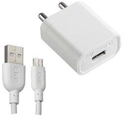 1 Mtr ERD TC-50 Mobile Travel Charger (White, Cable Included)