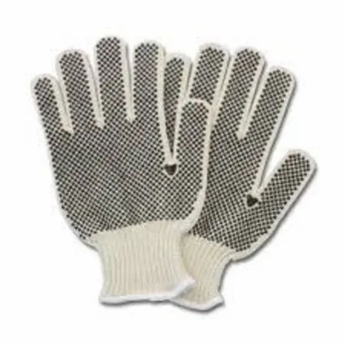 Dotted Cotton Knitted Hand Gloves