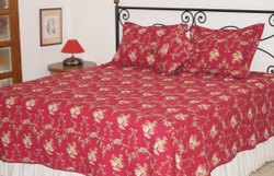Quilted Bed Spread Made In 100% Cotton Fabric
