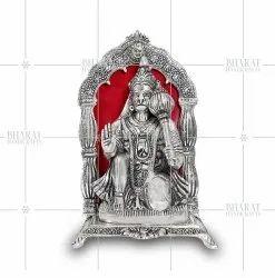 Silver Plated Hanuman Murti