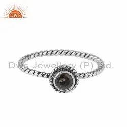 Labradorite Gemstone Oxidized Sterling Silver Handmade Ring