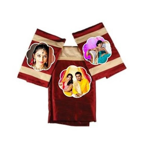 Ambition gifts Maroon Sublimation Patch Bed Sheet, in Pan India