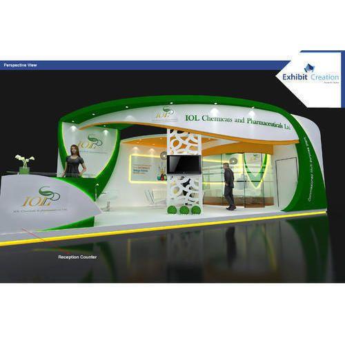 Modern Exhibition Stall Design : Modern exhibition stalls designing service in sector 31 gurgaon
