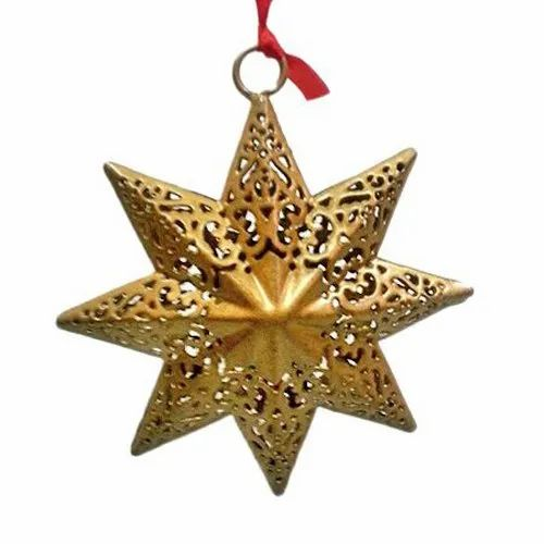 Modern Golden Christmas-Hanging-Star for Home Decoration