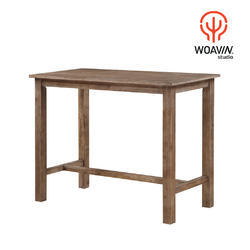 Woavin High Quality Commercial, Farmhouse, Canteen Wooden High Table,  Shape: Rectangle