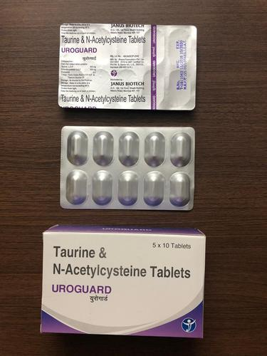 Taurine & N Acetylcysteine Tablets, Packaging Size: 10x10