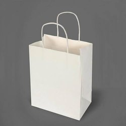 White Craft Paper Bags for Grocery, Capacity: 2kg