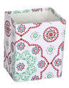 White Floral Printed Paper Pen Holder and Pencil Holder