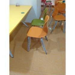 Stainless Steel And Plastic Restaurant Chair, Seating Capacity: Single Seater