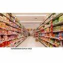 Ss, Wooden Free Standing Unit Supermarket Display Rack