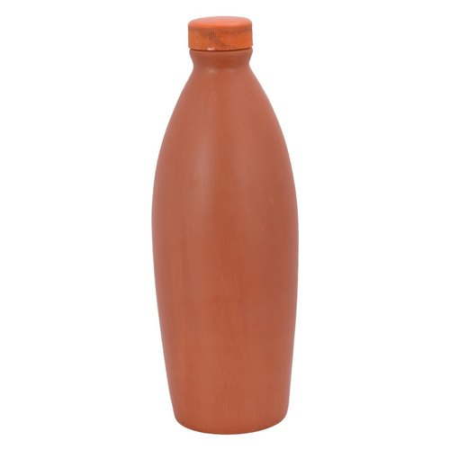 Handmade Clay Water Bottle