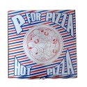 Printed Blue & White Pizza Packaging Corrugated 12 X 12 X 1.5 Inch Box