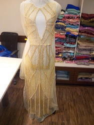 Tex Weaves India Embroidered Long Designer Dress