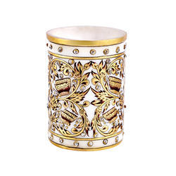 Marble Pen Holder Fine Butter Fly