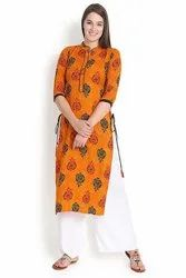 Chinese Collared Rayon Kurti