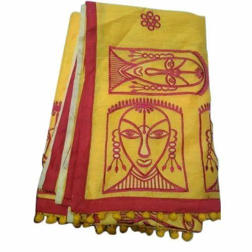 Ladies Chanderi Cotton Saree, 6.5 Meter