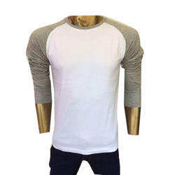 Cotton Full Sleeve Casual T Shirt, Size: Medium And Large