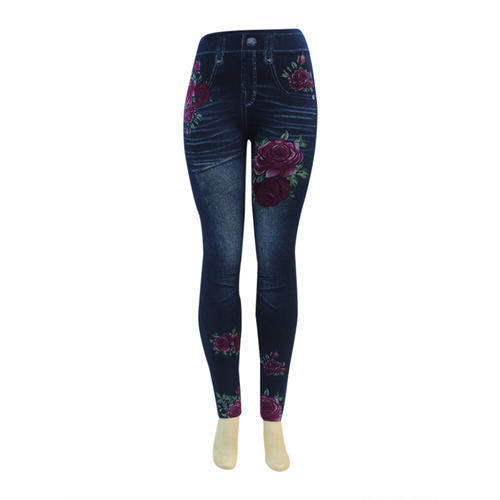 Fancy Denim Print Leggings