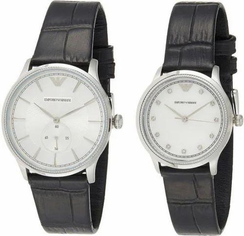 vasta selezione di fascino dei costi autentica di fabbrica Emporio Armani Set Of 2 His And Her Dial Analog Watche