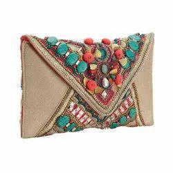 fancy beaded clutch bag