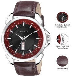 Branded Men Watch with Date and Day Function