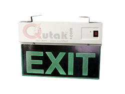Emergency Exit Light, Single Sided, 220 Volt