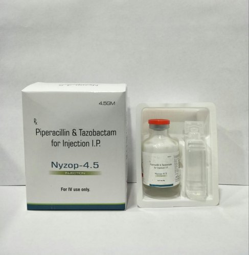 Nyzop-4.5 Piperacillin & Tazobactam for Injection, Packaging Size: 4.5 g, Packaging Type: Vial