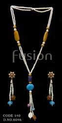 Stone Beaded Pearl Necklace Set